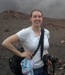 Anita on the Crater of Masya volcano